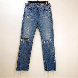 AG Denim The Sloan Crop Vintage Straight Leg